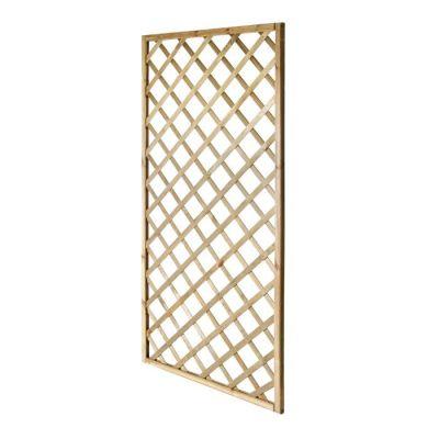 Pannello Grigliato in legno rettangolare 90x180 cm